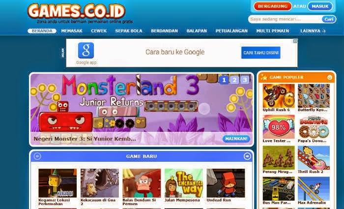 Situs Flash Game Online Terbaik Berbahasa Indonesia