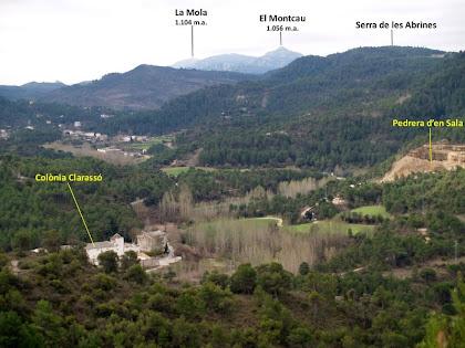 Vistes sobre la Colònia Clarassó i el seu entorn