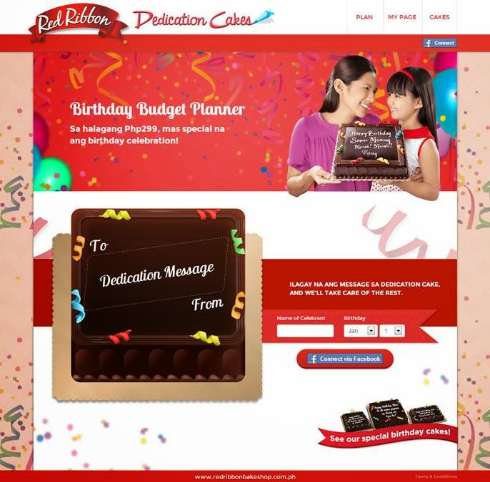 Red Ribbon Dedication Cakes And The Birthday Budget