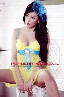hot Tika Suhartono di Popular World Pebruari 2013