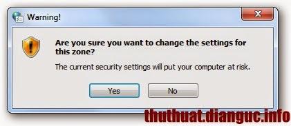"""Cách gở bỏ cảnh báo """"Open File – Security Warning"""" Window"""