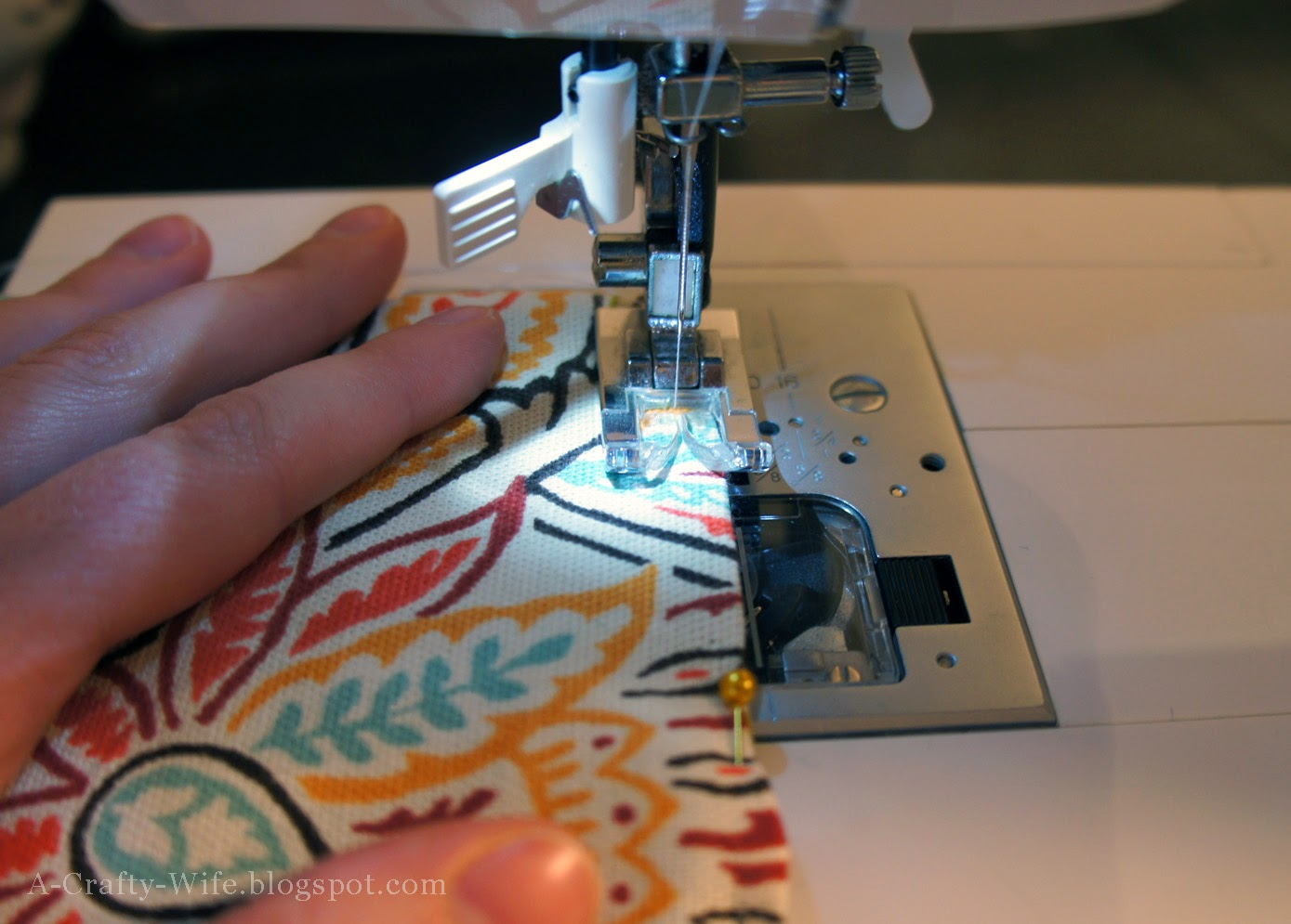 Sew iPad case closed with your sewing machine | A Crafty Wife