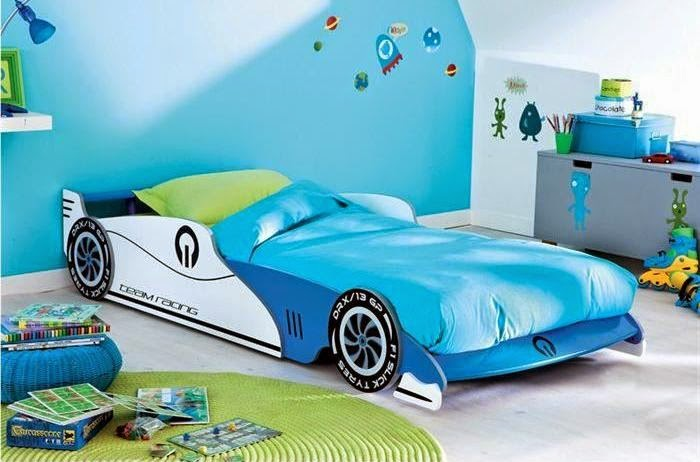 Initiales gg 5 lits d 39 enfant originaux moins de - Lit voiture de course ...