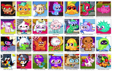 Moshlings on Moshi Monsters