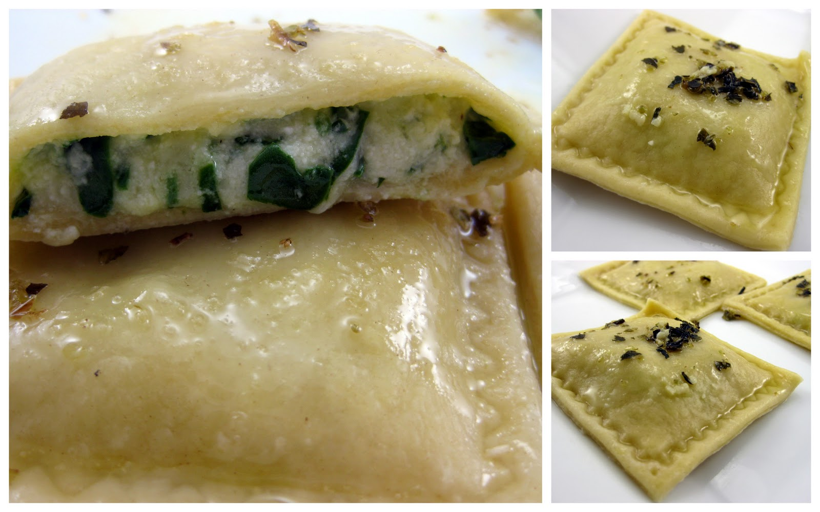 ... Food Blog: Spinach & Three Cheese Ravioli with Garlic Butter Sauce