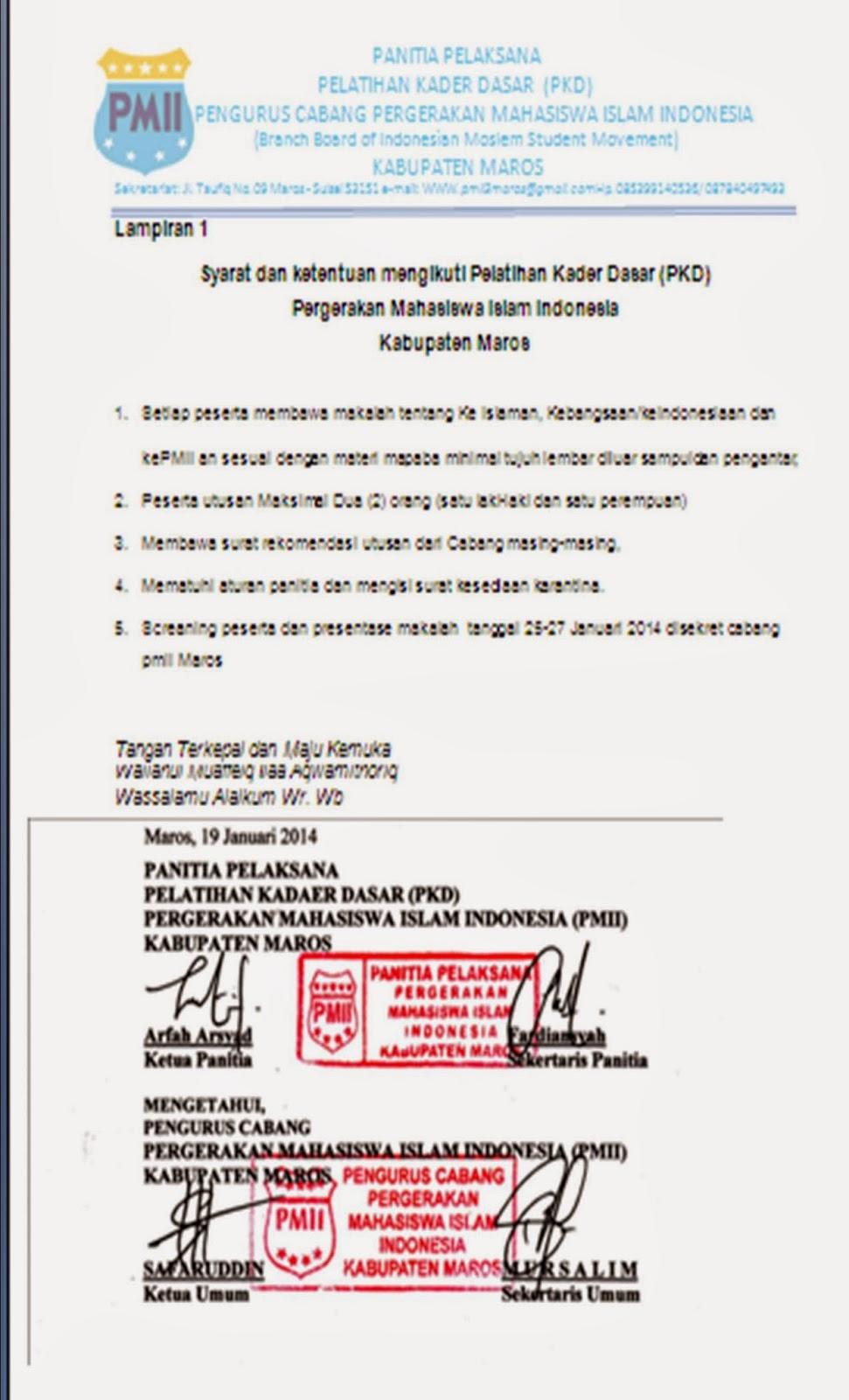 pc pmii gowa sulawesi selatan ikuti kegiatan pkd pmii maros undangan untuk warga pmii gowa