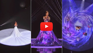 Watch: J.Lo Wore a 3D Dress on Her American Idol Performance