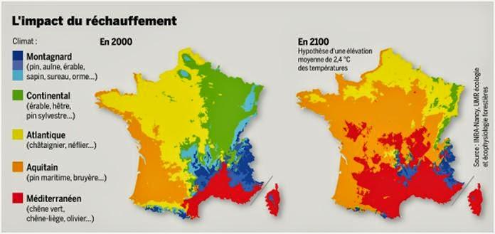 carte de france 2100