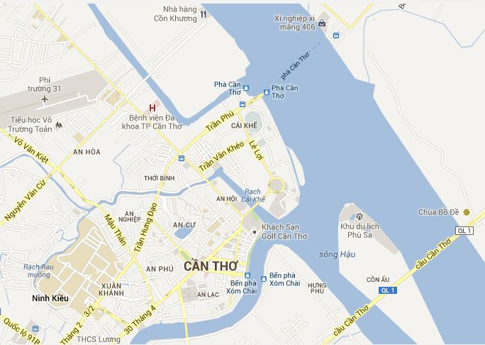 Can Tho tourist map | Can Tho Vietnam tourist maps