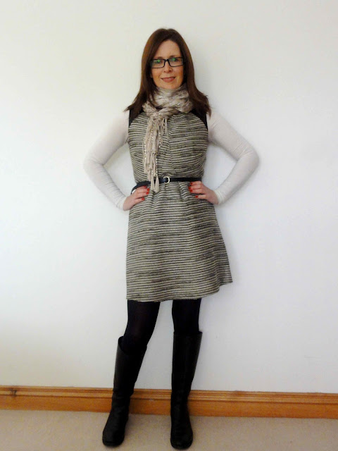 M%2526S+Tweed+Dress8 One M&S Party Dress   Three Ways!