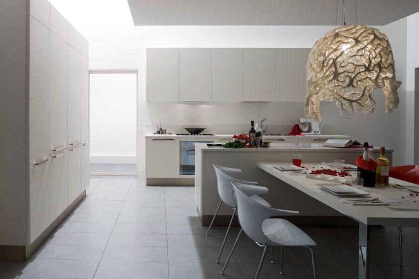 Domus arredi una cucina tutta bianca laccato opaco laccato lucido o materico sempre - Cucina laccato bianco ...