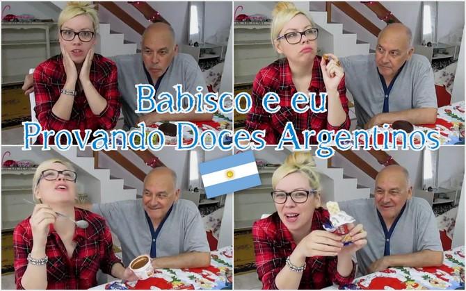 Babisco e eu Provando Doces Argentinos