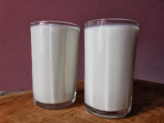 1 glass = 250 ml milk