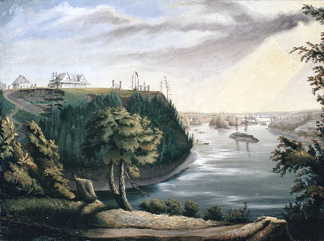 View of Barrack Hill and the Ottawa River at Bytown (Ottawa)