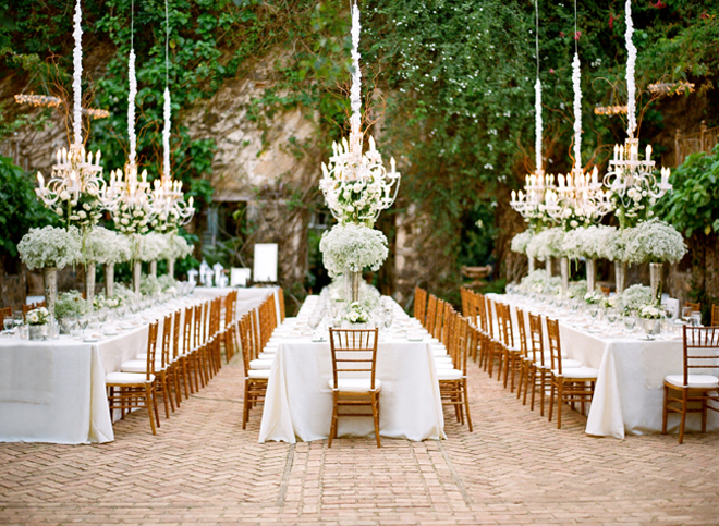 Chandeliers and outdoor weddings part 2 belle the magazine - Garden wedding decorations pictures ...