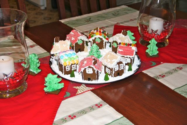 a ginger bread village at Christmas