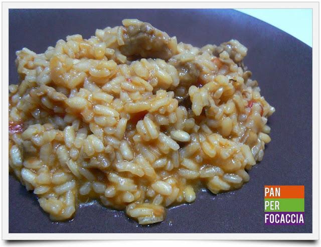 risotto con funghi e salsiccia