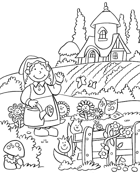 Mole Coloring Page Black And White