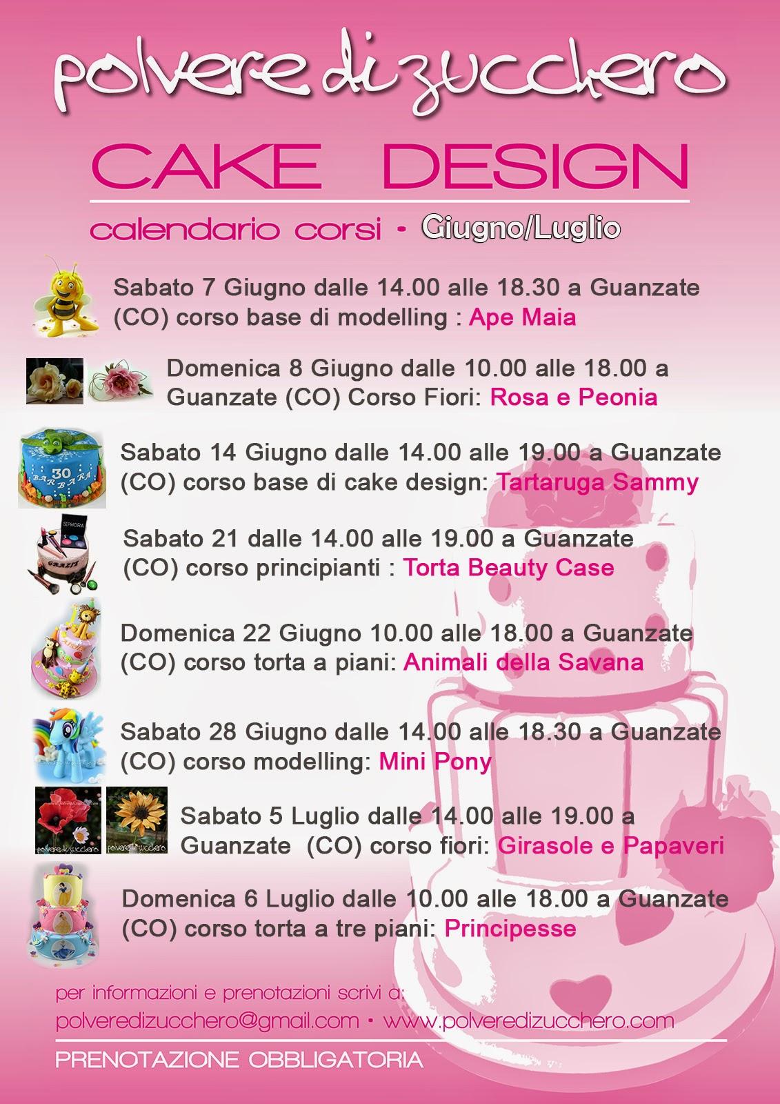 calendario corsi cake design: torte, modelling, biscotti, cupcakes e fiori di zucchero