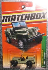 Matchbox Jungle Explorers - Jeep Willys Anaconda, 1:64 Scale