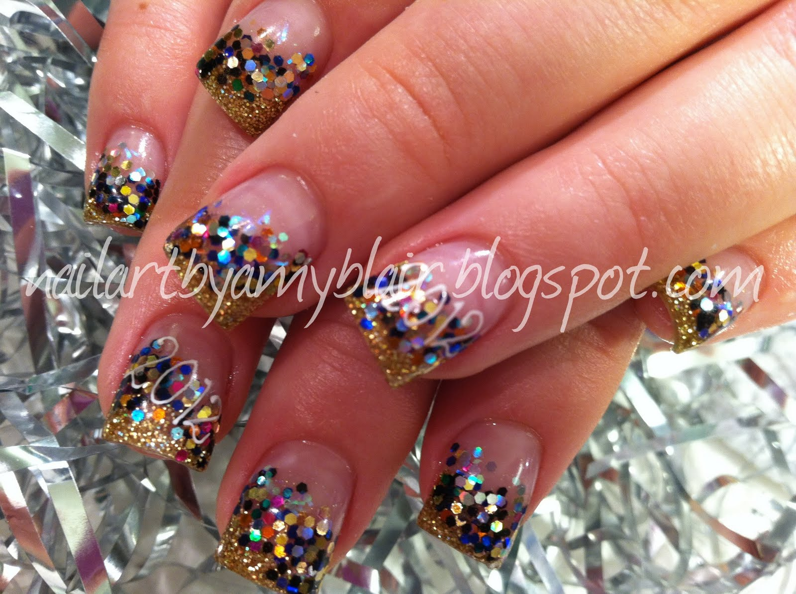 Nail Art: NEW YEARS NAILS! 2012