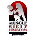 MuscleGirlzLive Graphic Logo Design