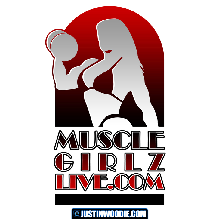 MuscleGirlzLive Graphic Logo Design