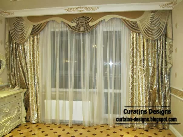 Embossed curtain designs and draperies for bedroom luxury for Bedroom curtain designs photos