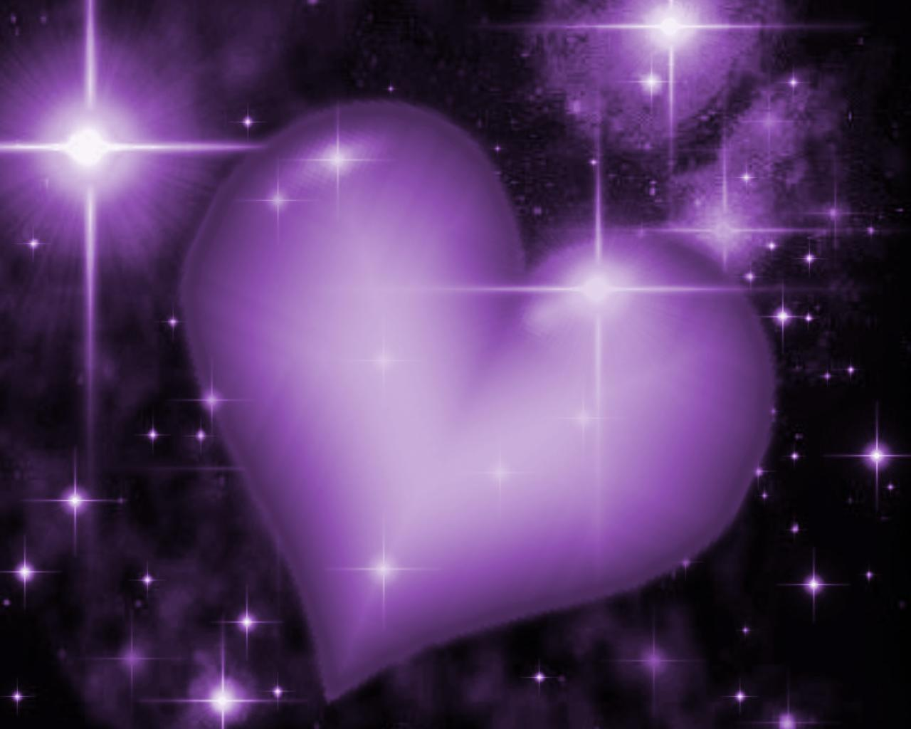 Another just for fun entry  - Purple Hearts And Stars Background