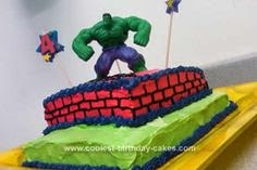 elenasprinciples Homemade Hulk birthday cake
