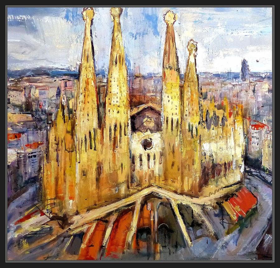 Ernest descals artista pintor barcelona pintura paisajes cuadros panoramicas catalunya sagrada - Pintores de barcelona ...