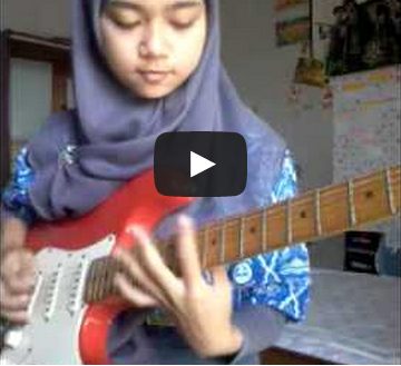 Heavy Metal Guitar Cover by Hijab Girl