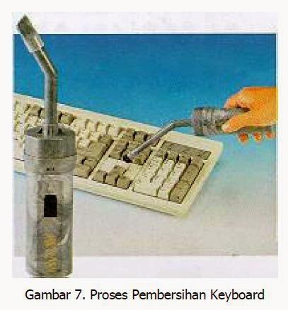 proses pembersihan keyboard