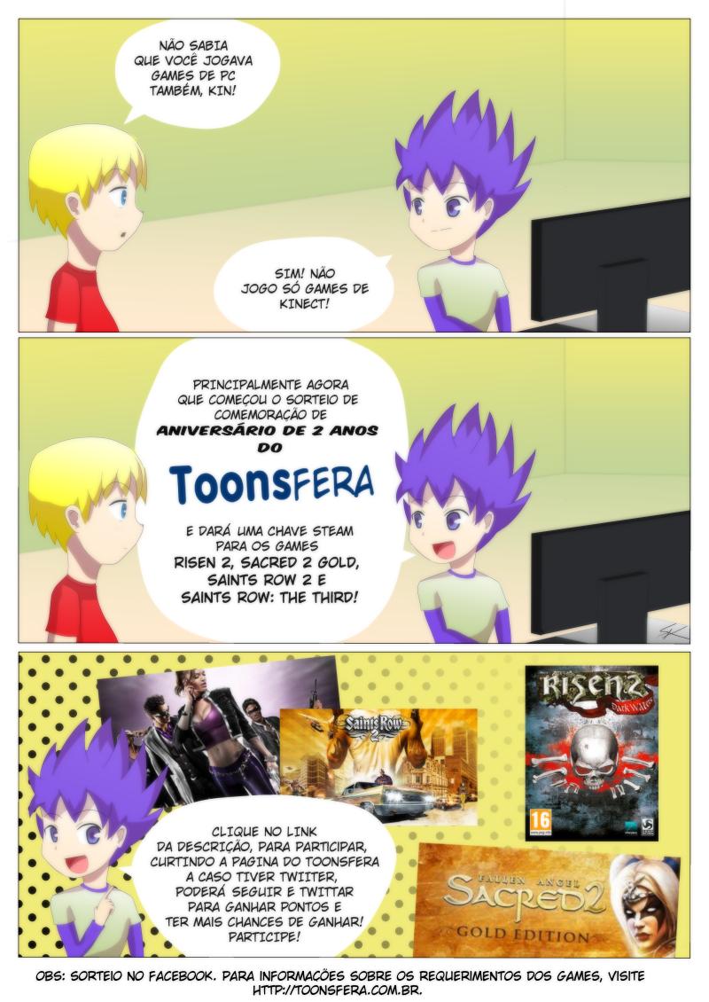 Sorteio de aniversário Toonsfera 2 anos!