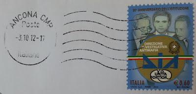 francobollo Direzione Investigativa Antimafia
