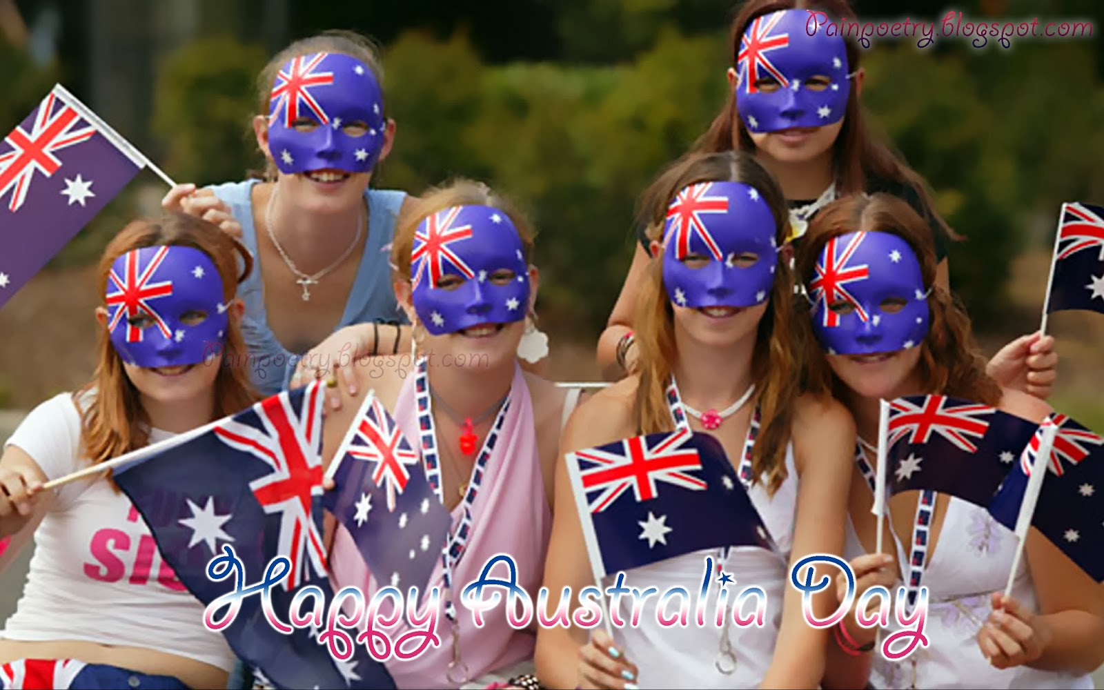 Happy-Australia-Day-Celebrations-Of-26-January-Wishes-Greetings,-Print-Map-Of-Australia-On-Mask-Wearing-Image-HD