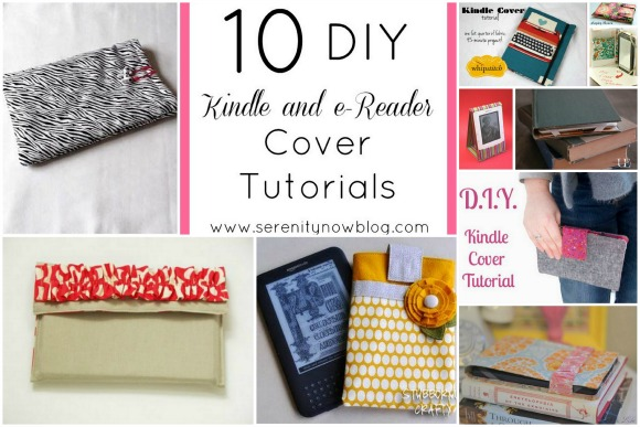 10 DIY Kindle and e-Reader Cover Tutorials, at Serenity Now