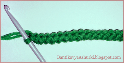 Как вязать крючком шнур-гусеничка