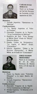 Contraalmirante Carlos H. Robacio - Suboficial Mayor Jorge R. Hernández