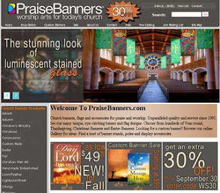 PraiseBanners Website September 2012
