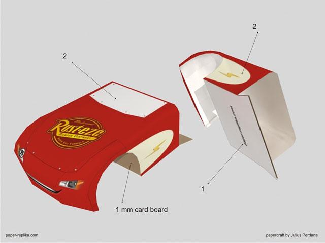 paper craft rayo mcqueen