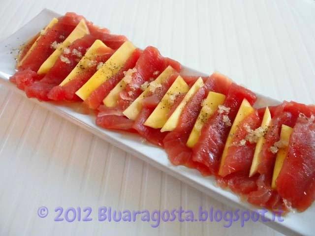 01-millefoglie di tonno fresco, lime e fingerlime