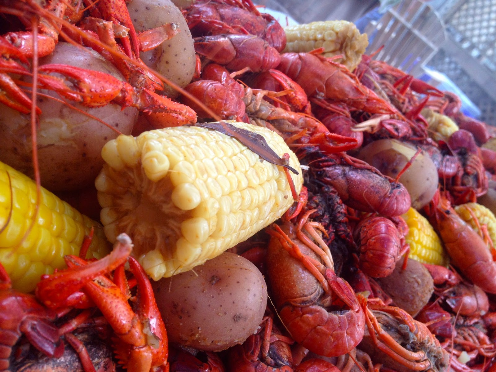 It's All About The Accessories When Ites To The Boil Generously  Shaking On The Crawfish Boil Seasoning Will Produce A Mixture That's Full  Of Flavor