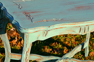 Laurel S Attic Turquoise Side Table Sold