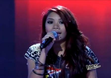 Angelica Prado of The Voice of the Philippines