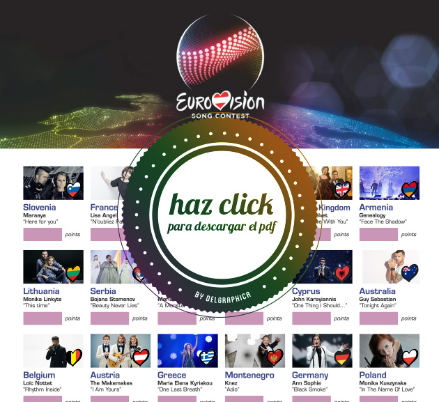 imprimible printable eurovision 2015