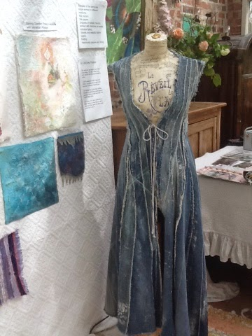 Long Denim waistcoat using scraps and sashico stitch