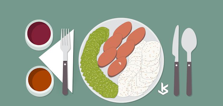 Gambar Vector - Gambar Ilustrasi makanan khas serang
