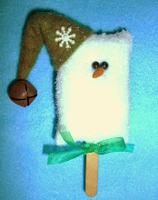 ICE CREAM BAR SNOWMAN - GREEN WOOL HAT