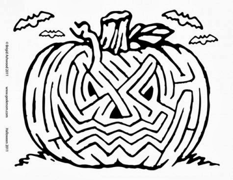 This is a picture of Satisfactory Halloween Maze Printable